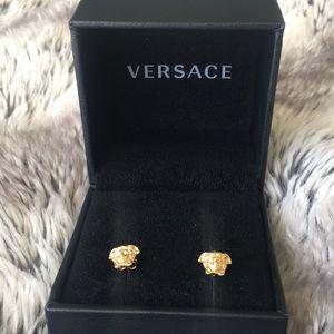 NWT Versace Stud Earrings